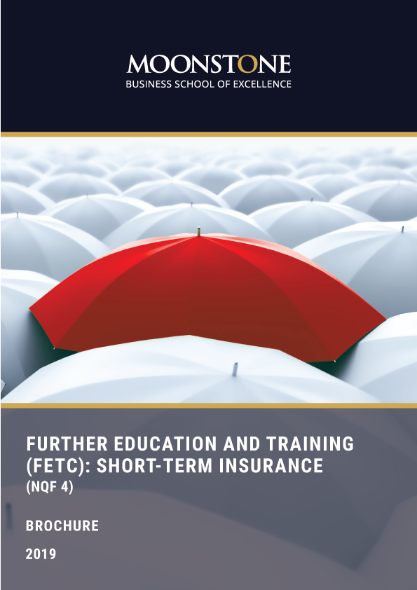 Short Term Insurance Courses, Further Education and Training (FETC): Short-term Insurance (NQF 4)